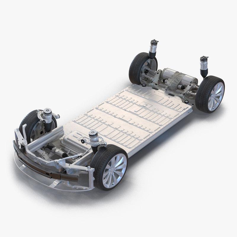 Tesla Model S Chassis 3d model 01.jpg
