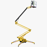 telescopic boom lift yellow 3ds