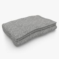 blanket fold gray 3d model