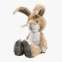 classic toy rabbit 3d max