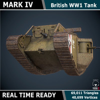 3d model ready tank mark iv