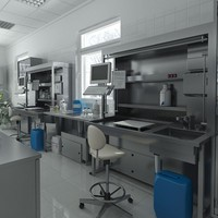 3d model of anatomy pathology laboratory equipment