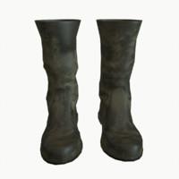Tarpaulin boots