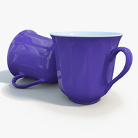 blue mug 3d model