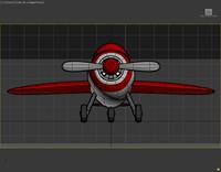3d cartoon airplane