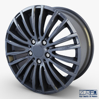 3d model style 345m wheel ferric