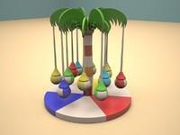soft swing children playground 3d model