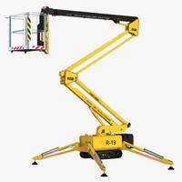 3d model telescopic boom lift generic