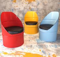 industrial barrel chair 3d max