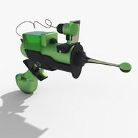 3dsmax cartoon gun