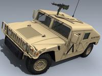 army humvee desert 3d max
