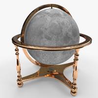 3ds max moon globe