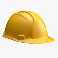 worker helmet 3d model