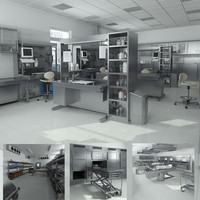3d model big hd anatomy laboratory equipment