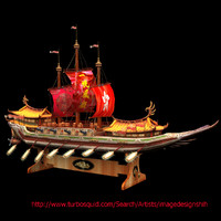 3ds max chinese junk ship