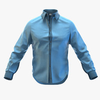 man shirt 3d obj