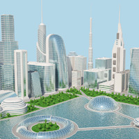 futuristic city 2 3d max