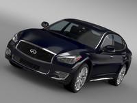 3d model infiniti q70 hybrid l