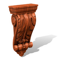 decorative bracket 3d ige