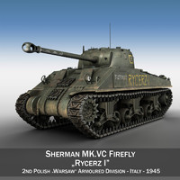 3d model of m4 sherman firefly vc