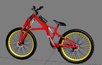 folding downhill bike 3d model