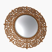 wood frame wall mirror 3d model