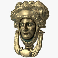 3d model victorian door knocker
