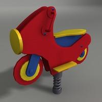 playground bike 3d model