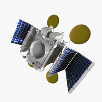 3d model russian artificial earth satellite