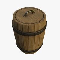 free ma model wood barrel