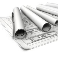blueprints office 3d model