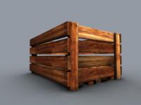 free x model wooden box