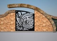 fence window gate design 3d model