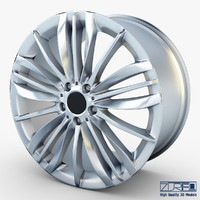 3d style 332 wheel silver model
