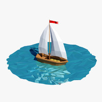 3d boat cartoon
