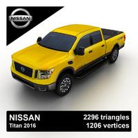 3ds max nissan titan 2016 pickup truck