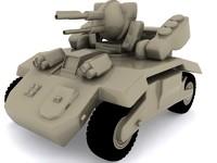 fantasy tank mega 3d max