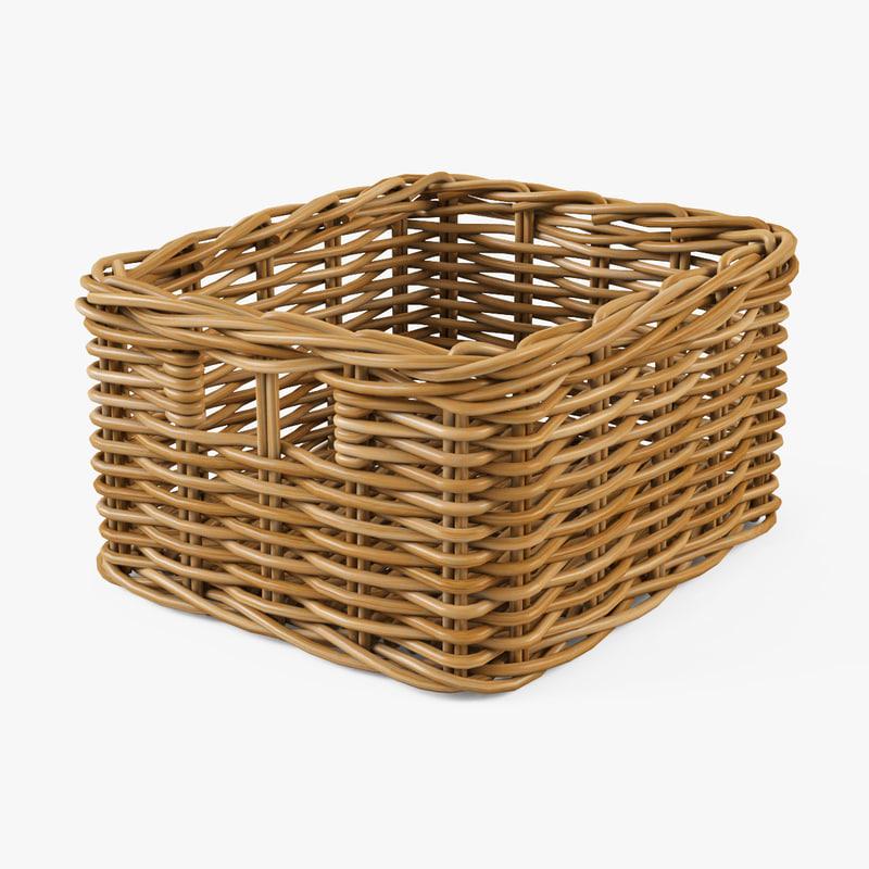 3d wicker basket ikea byholma model