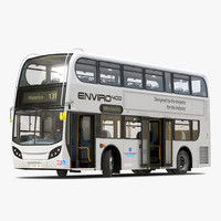 3d model alexander dennis bus enviro400