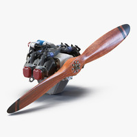 3d 3ds piston aircraft engine ulpower