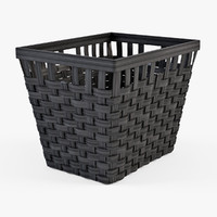 wicker basket ikea knarra obj