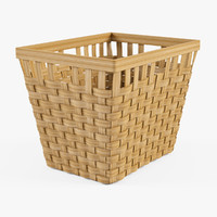 3d wicker basket ikea knarra model