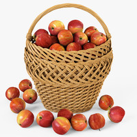 wicker basket 01 apples max