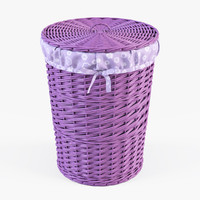 3d x wicker laundry basket color