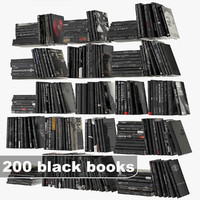 3d model black books set