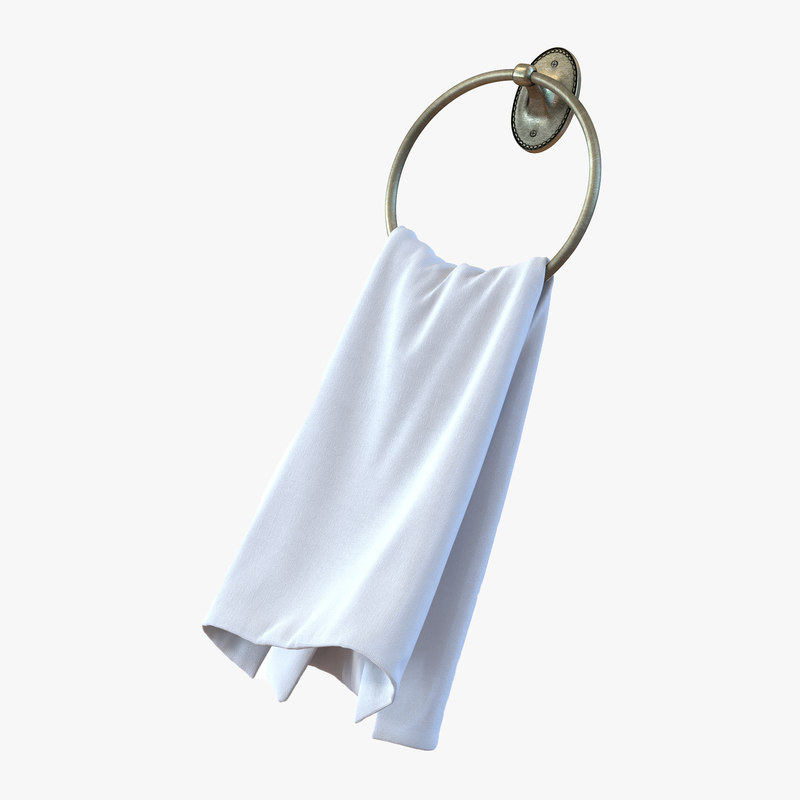 3d model of Hanging Bathroom Towel 00.jpg