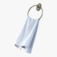 3d hanging bathroom towel 2 model
