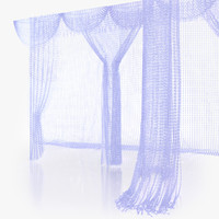 3d model crystal curtain