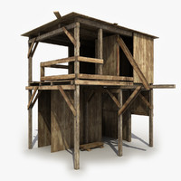 shed wooden wood 3d model