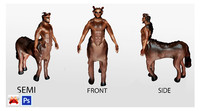 3d centaur mythical creature